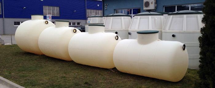 Horizontale unterirdische Regenwassertanks
